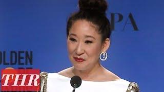 Simak Serunya Wawancara Sandra Oh Setelah Menang di 'Golden Globes Awards 2019'