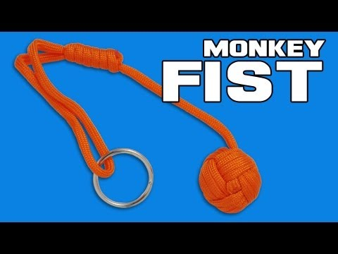 "Monkeyz Fist Gray Paracord Lanyard Knot (Large 1-1/4"" Ball)"