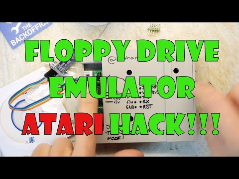 Gotek Floppy Emulator attached to ATARI 520ST - смотреть онлайн на