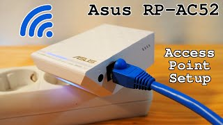 Asus RP-AC52 Wi-Fi extender • Access Point installation and configuration