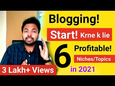 6 Profitable Niches/Topics To Start Blogging In 2018 And Earn Money Online