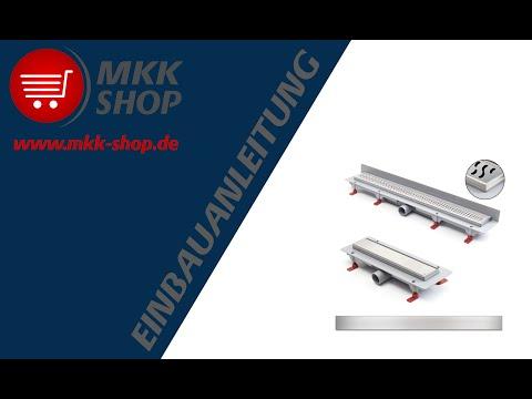 MKK-SHOP Montageanleitung Duschrinnenablauf Bodenablauf Duschablaufrinne