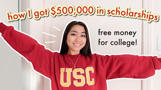 How I Got $500,000 in College Scholarships (WHAT NO ONE TELLS YOU) national merit/applying early/ECs