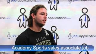 Academy Sports Interview - sales associate