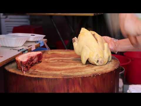Poached Chicken 白切雞 Roasted Crispy Pork 明火炭爐燒脆皮爆汁新鮮豬腩肉 元朗 添記燒臘