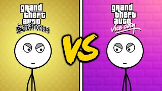 GTA Vice City Gamers VS GTA San Andreas Gamers