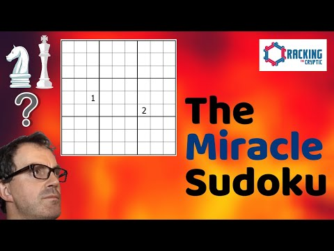 Simon Anthony solving a Sudoku with 2 given numbers (and some extra restrictions). Brilliant!