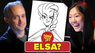 Animators Vs. Cartoonists Draw Disney Princesses From Memory •Draw-Off