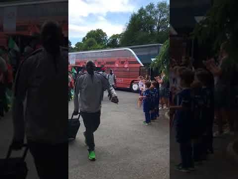 VIDEO: Super Eagles Warmly Welcomed By Locals In Austria