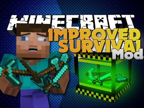 Minecraft Mods - IMPROVE SURVIVAL MOD - MAKE YOUR LIFE EASIER