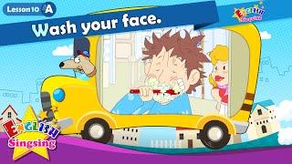 Bài 10_ (A) Rửa mặt của bạn. - Cartoon Câu chuyện