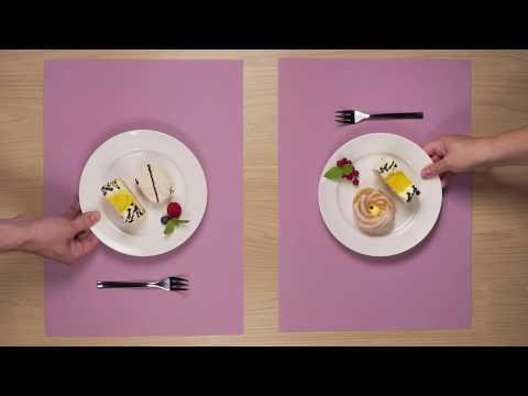 Video TESCOMA prostírání PURITY FLAIR 45x32 cm, malinová 2