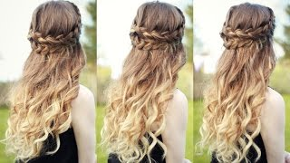 Beautiful Half Down Half Up Braided Hairstyle with curls| Half down hairstyles | Braidsandstyles12