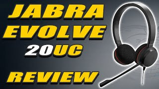 JABRA EVOLVE 20 UC STEREO UNBOXING | REVIEW - Noise Cancelling Headset and Mic