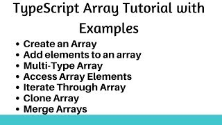 TypeScript Array Tutorial with Examples