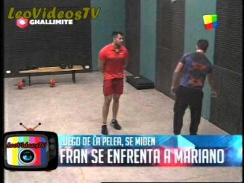 Francisco desafio a Mariano a saltar el tapial y pelearse afuera GH 2015 #GH2015 #GranHermano
