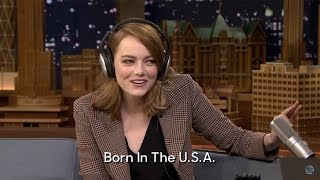 Watch Emma Stone And Jimmy Fallon Hilariously Fail At The Singing Whisper Challenge