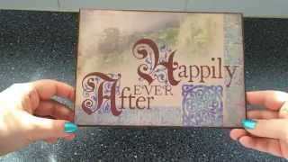Happily Ever After - a wedding gift wallet - part I