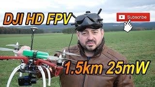 DJI Digital FPV System Range Test - 1.5km 25mW - German / Deutsch