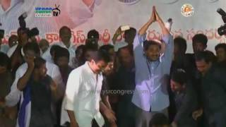 YS Jagan Arrives And Welcomes Kasu Mahesh Reddy In YSRCP In Narasaraopet - 16th Dec 16