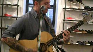 Bayside - Talking of Michelangelo acoustic at Fred Perry's Surplus Shop in Brooklyn 3-29-12
