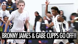 Bronny James HITS BIG SHOTS And Gabe Cupps GOES OFF In Championship Game!