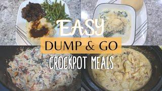 DUMP AND GO CROCKPOT MEALS // QUICK AND EASY CROCKPOT RECIPES