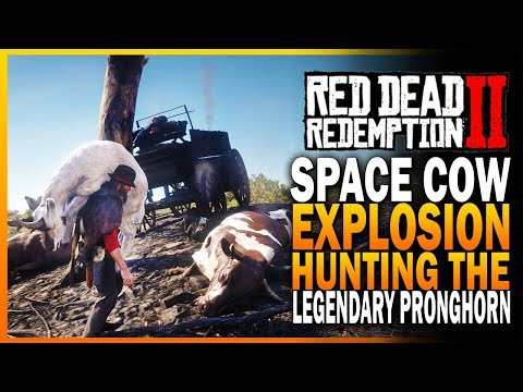 Space Cow Explosion Mystery & Hunting The Legendary Pronghorn! Red Dead Redemption 2 [RDR2]