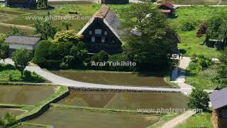 白川郷の動画素材, 4K写真素材