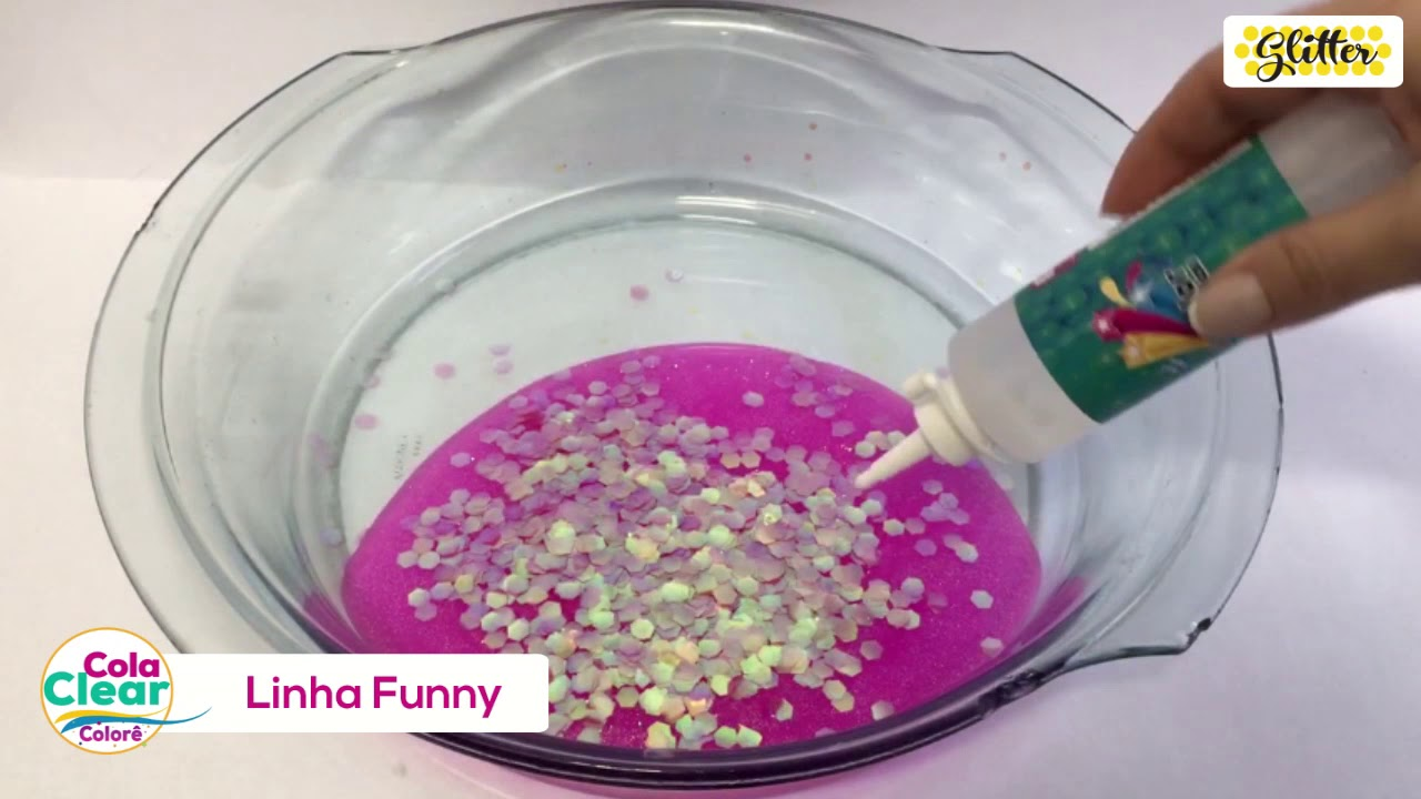 DIY | Slime com Glitter