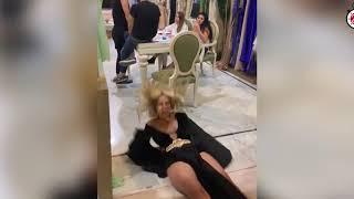 تحميل اغاني لحظة سقوط الفنانة دومنيك وموقف محرج أثناء تصوير أغنيتها الجديدة MP3