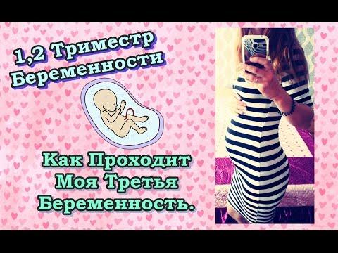 1,2 Триместр беременности.Как проходит моя третья беременность.