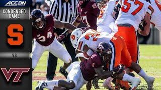 Syracuse vs. Virginia Tech Condensed Game | 2021 ACC Football