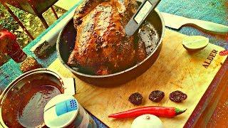 Barbecue chicken | домашняя курочка на гриле - барбекю. Идеальный рецепт BBQ птицы + соус на костре