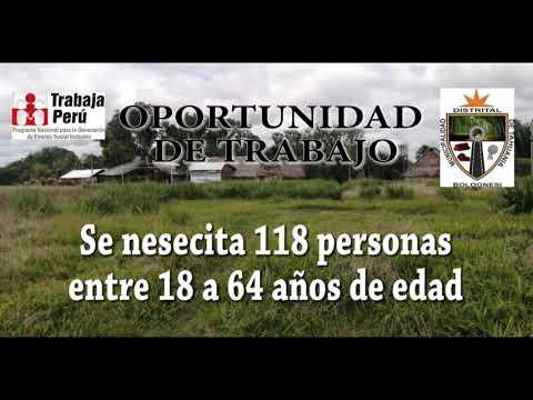 TRABAJA PERU - MUNICIPALIDAD DISTRITAL DE TAHUANIA