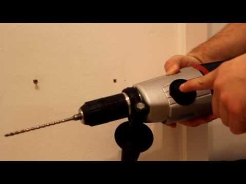 Schrauben in Beton oder Ziegelwand Teil 03/03: Das Bohren und die Montage des Routers
