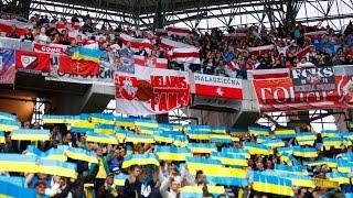 Беларускія і ўкраінскія фанаты на матчы Украіна-Беларусь \ Фанати на матчі Україна-Білорусь