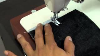シンガー千鳥ミシン 革縫い動画