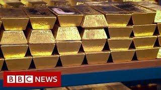 Rare Look Inside Bank Of Englands Gold Vaults - BBC News