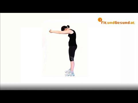 Trainingsprogramm auf dem Kniegelenk
