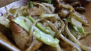 肉野菜炒めは 野菜肉炒めではございませんので