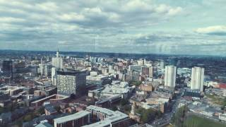 birds eye view of birmingham