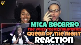 Mica Becerro   Queen Of The Night (The Voice Teens Philippines) Reaction