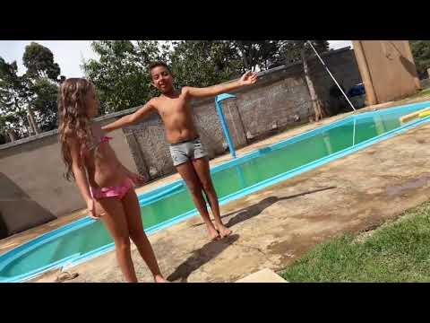 Desafio da piscina  🏊/com minha prima