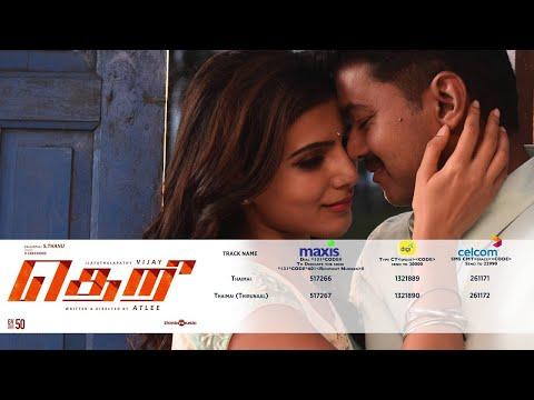 Theri Ringback Tunes for Malaysia | Vijay, Samantha, Amy Jackson | Atlee | G.V.Prakash Kumar