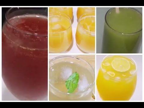 Video Best 5 ● Summer Drinks Recipes/ Simple and Easy Drinks Recipes/ Summer Cooler Recipes /How to Make.