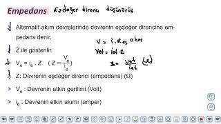 Eğitim Vadisi 11.Sınıf Fizik 24.Föy Elektrik ve Manyetizma 2 Konu Anlatım Videoları