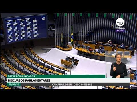 Plenário - Breves comunicados - Discursos parlamentares - 22/09/2020 12:55