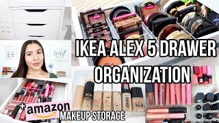 IKEA ALEX 5 DRAWER ORGANIZATION | Amazon Makeup Storage + My Favorite Organizers | Jackie Ann
