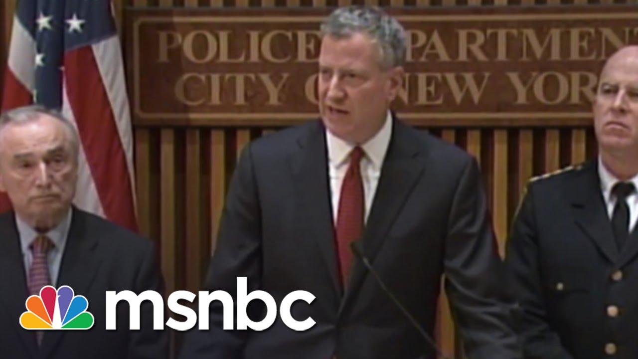 NYC Police Vs. Mayor De Blasio | All In | MSNBC thumbnail
